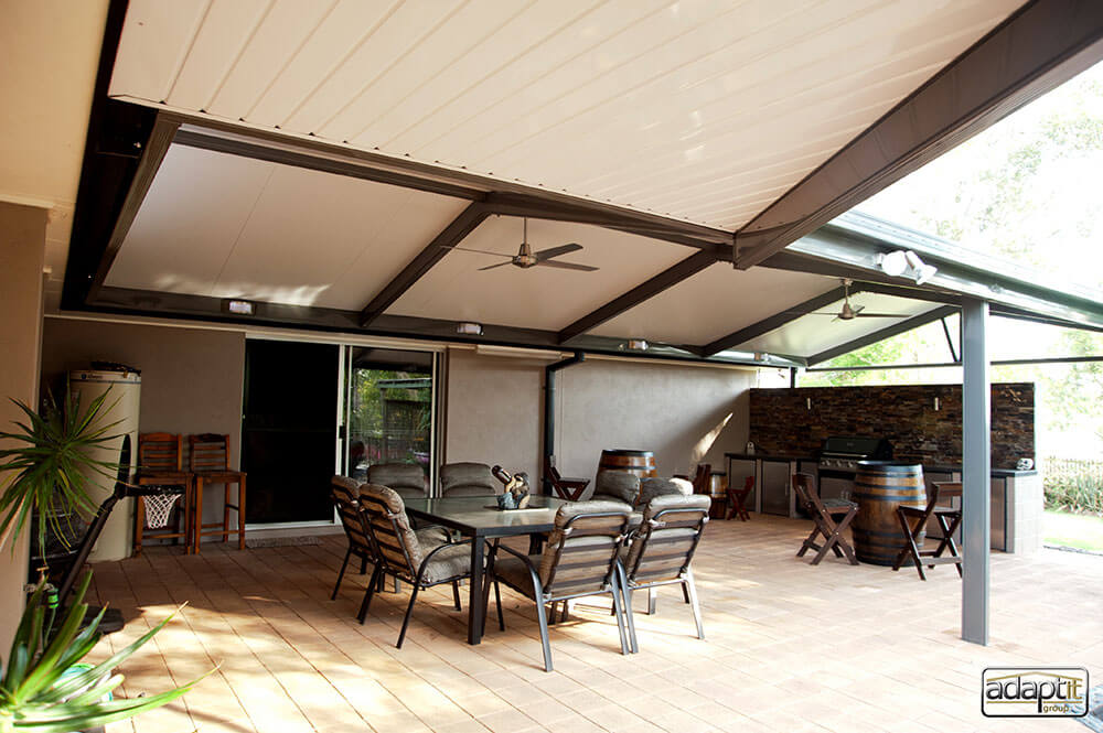 Combined Gable & Flat Patio Outback Deck Brisbane