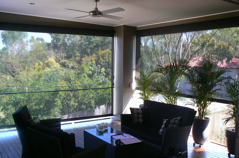 Enclosed Roller Blinds Patio Brisbane